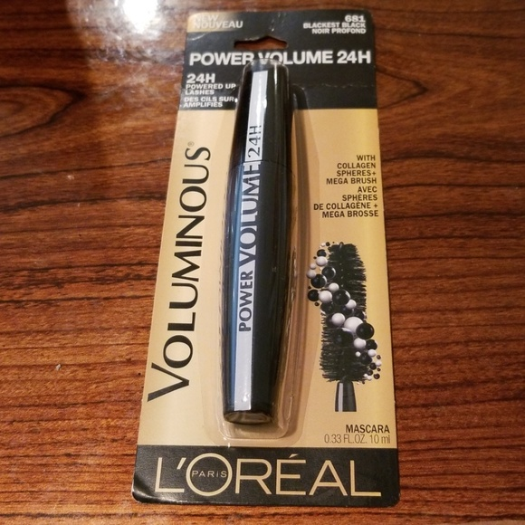 27bbb9766b5 L'Oreal Makeup | 525 Loreal Voluminous 24hr Power Mascara Black ...